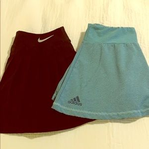 Tennis skirt bundle - Nike and Adidas - Small